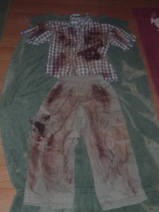 Mike's zombie costume. Are you digging it?
