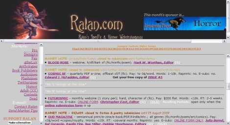 Ralan's SpecFic & Humor Webstravaganza - Frameset_1249542644884