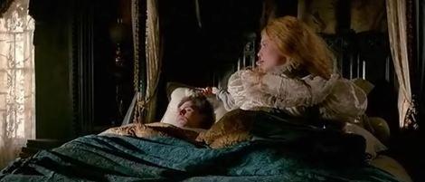 Tom Hiddleston lying in bed